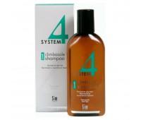 SIM SENSITIVE Терапевтический шампунь № 1 для нормальной и жирной кожи головы